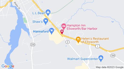 Hampton Inn Ellsworth/Bar Harbor Map