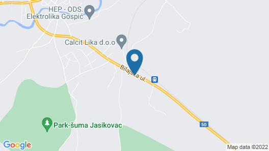 2 Bedroom Accommodation in Gospic Map