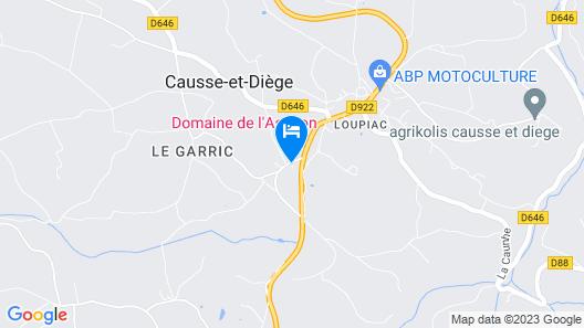 Domaine de l'Asenon Map