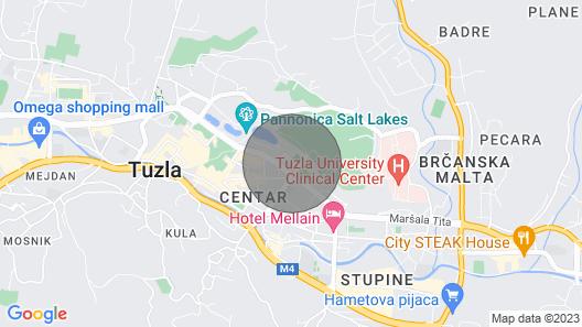 Studio Apartman Banja Map