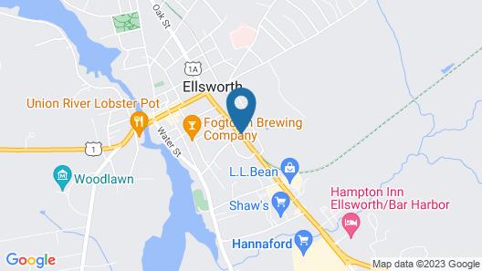 Comfort Inn Ellsworth - Bar Harbor Map