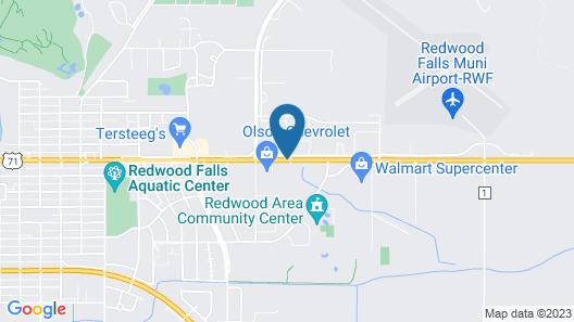 Travelodge by Wyndham Redwood Falls Map
