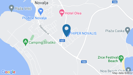 Hostel Zrce - Adults Only Map