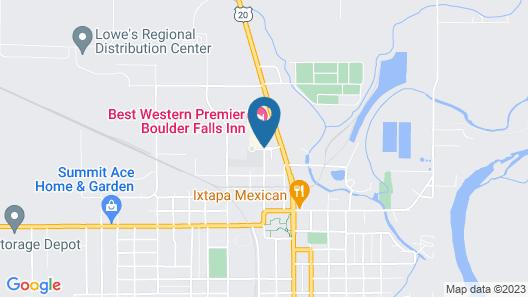 Best Western Premier Boulder Falls Inn Map