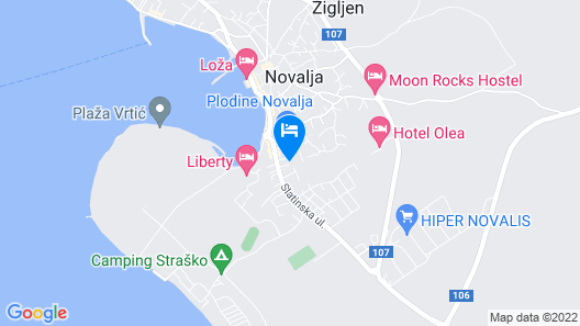 Pool Apartments Galeb Map