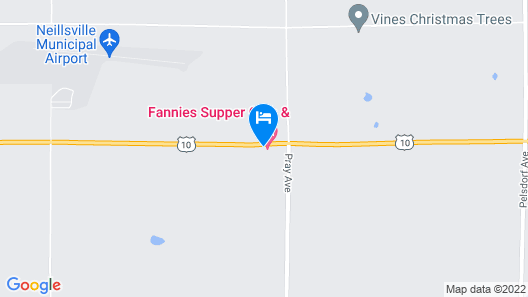 Fannies Supper Club and Motel Map