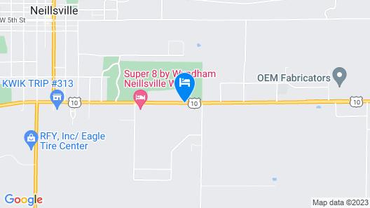 Super 8 by Wyndham Neillsville WI Map