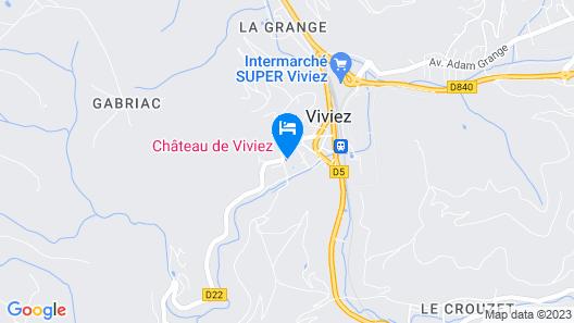 Chateau de Viviez Map