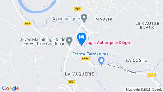 Hotel Auberge de la Diège Map