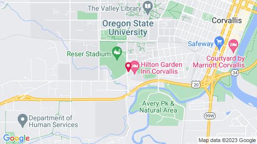 Hilton Garden Inn Corvallis Map