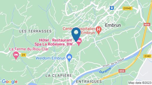 Hôtel La Robéyère Map