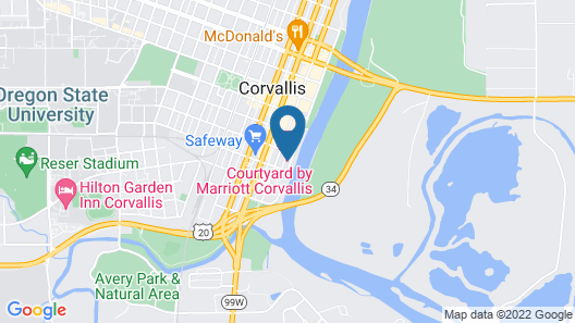 Courtyard by Marriott Corvallis Map