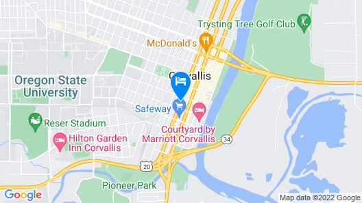 Hotel Corvallis Map