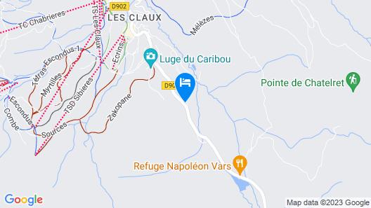 CGH Résidences & SPAS Panorama Vars 2000 Map