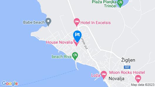Apartments with Pool Villa Zora Map