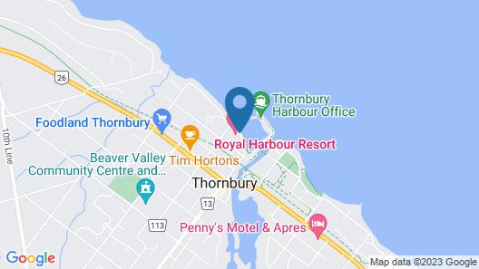 Holiday Villa Resorts - Thornbury Royal Harbour Resort Map