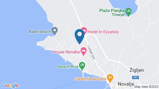 Villa Tina - Near Novalja City Museum Map