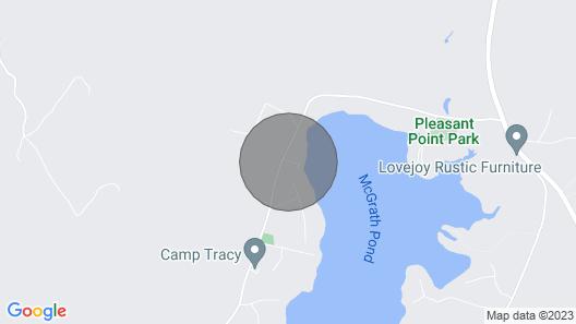 Updated Oakland Cottage W/deck on Mcgrath Pond! Map