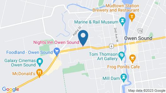 Nights Inn Owen Sound Map