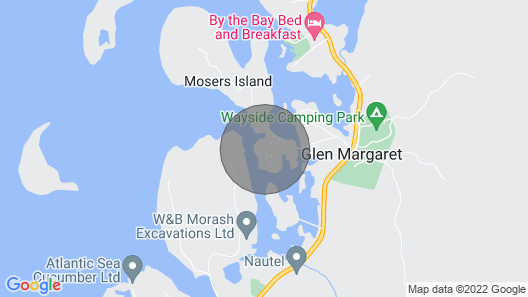 Moser Island Vacation Rental - Where THE Ocean Greets YOU Inside AND OUT Map