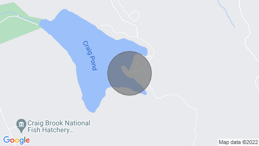 Perfect Lakeside Getaway - Craig's Pond Cabin Map