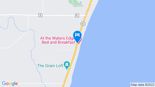 at the Waters Edge Bed & Breakfast Map