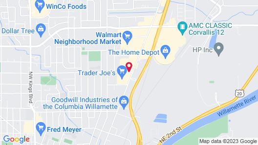 Best Western Corvallis Map