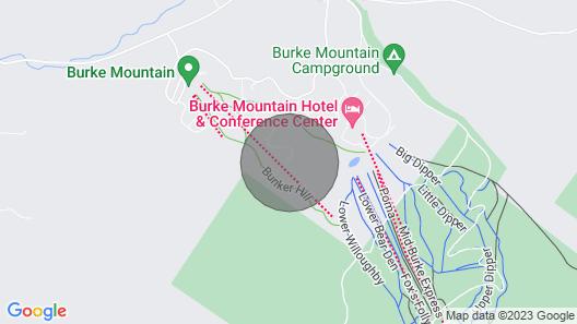 Ski-in Condo w/ Hot Tub on Burke Mtn Slopes! Map