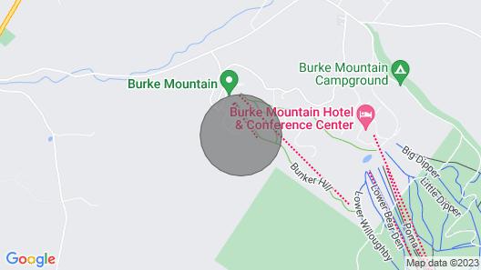 Cozy Condo w/ Patio, Walk to Burke Mountain! Map