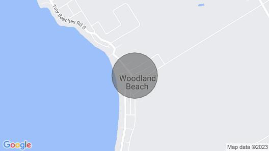 Naski's Family Cottage. 5 Minutes Walk TO Woodland Beach Map