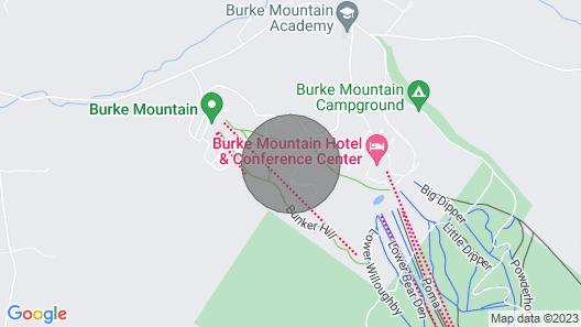 Updated Condo Next to Burke Mountain Bike Trails! Map