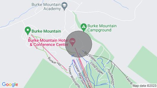 New! Cozy Condo: Ski-in/out Burke Mountain Access! Map