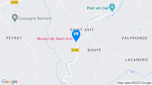 Moulin de Saint-Avit Map
