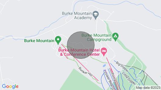 Large Modern Chalet - Slope Side - On Burke MT- Mt Bike, Hike, Ski, Snowmobile Map