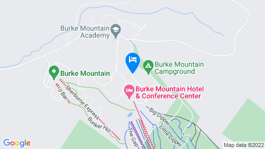 Burke Mountain Hotel & Conference Center Map