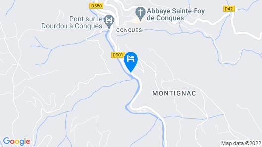 Hotel Moulin de Conques-Restaurant Herve Busset Map