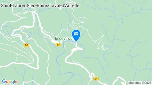 Camping Le Ceytrou Map