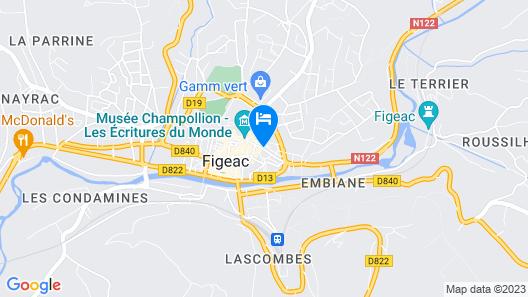 Chambre d'hôtes Conquans Map