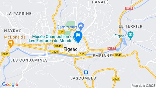 Hotel Mercure Figeac Viguier du Roy Map