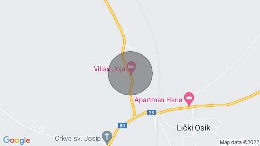 6 Bedroom Accommodation in Gospic Map