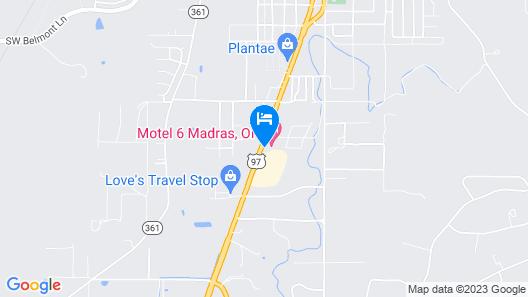 Motel 6 Madras, OR Map