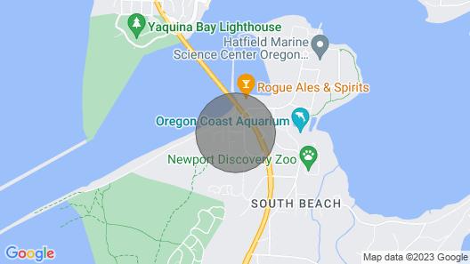 Walk to Oregon Coast Aquarium From This Modern, Dog-friendly, Oceanview Home! Map