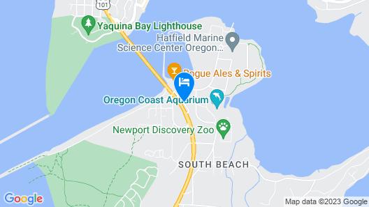 Motel 6 Newport, OR Map