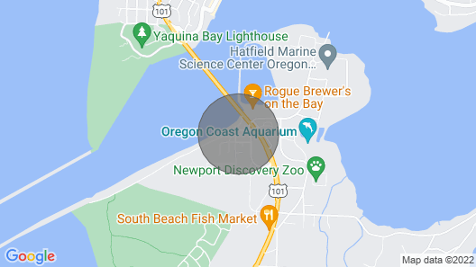 Super Oregon Coast Views and House Right on the Water Map