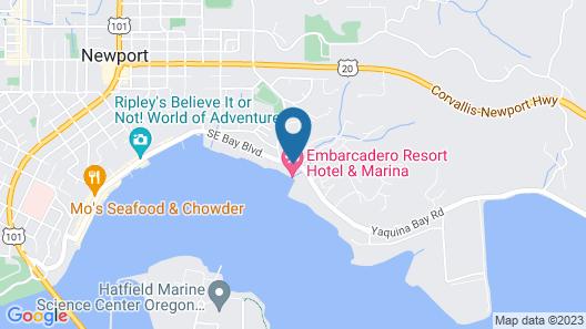 Embarcadero Resort Hotel & Marina Map