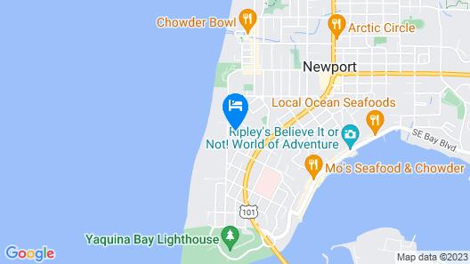 Comfort Inn Newport Map
