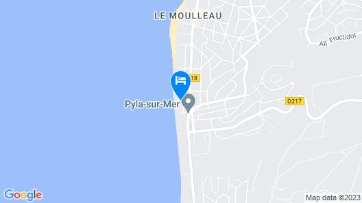 Villa de la Plage Map