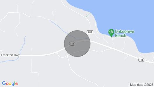 Cozy Studio Cabin Close to Lake Michigan Map