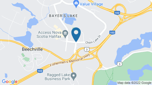 Comfort Hotel Bayer's Lake Map