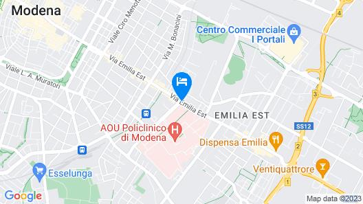 B&B Hotel Modena Map